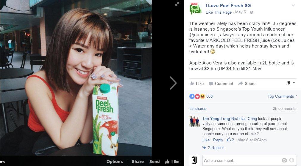 screengrab from Peel Fresh's FB