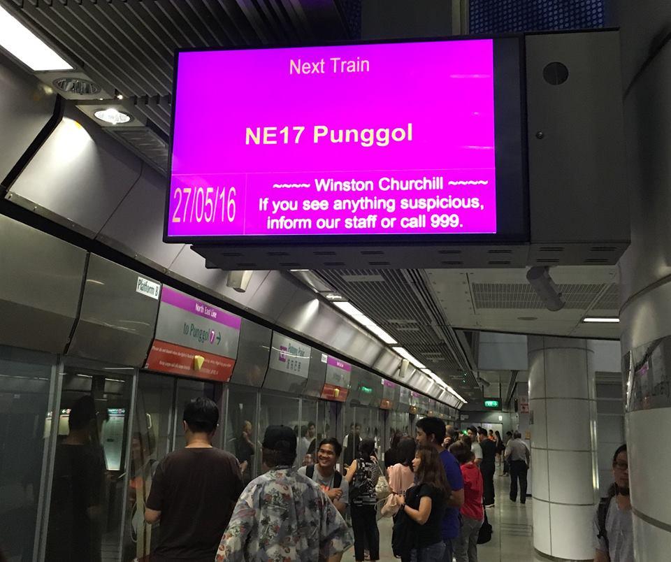 faulty MRT display panel