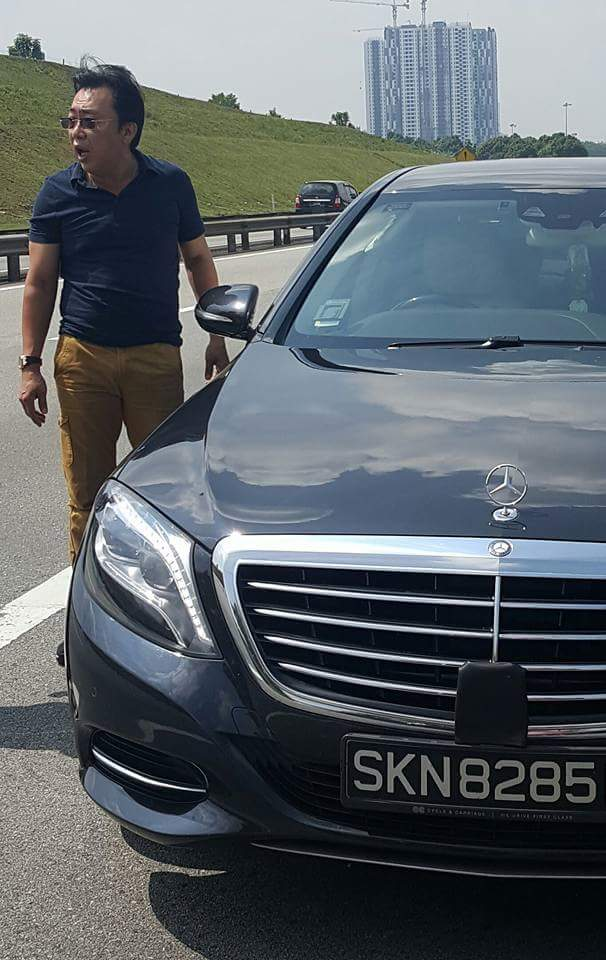 Singapore Registered Benz Car Driver Accused Of Dangerous Unruly - Car driver