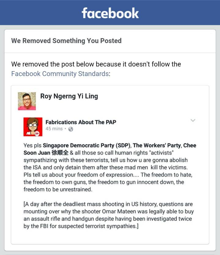 Facebook removed local socio-political posts which seems ...