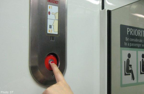 SMRT emergency button
