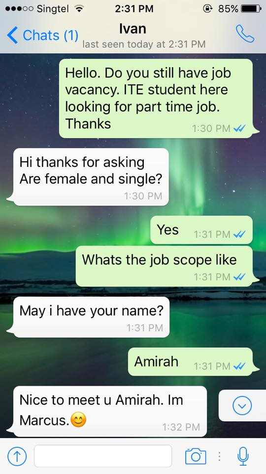 Asking a girl for sex here casual