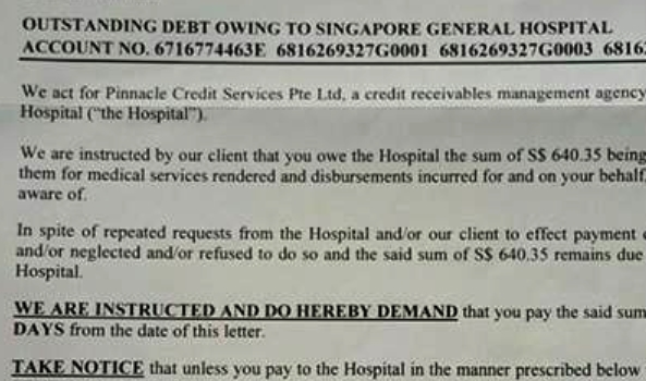 demand letter for payment for services rendered