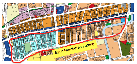 Geylang Red Light District Map