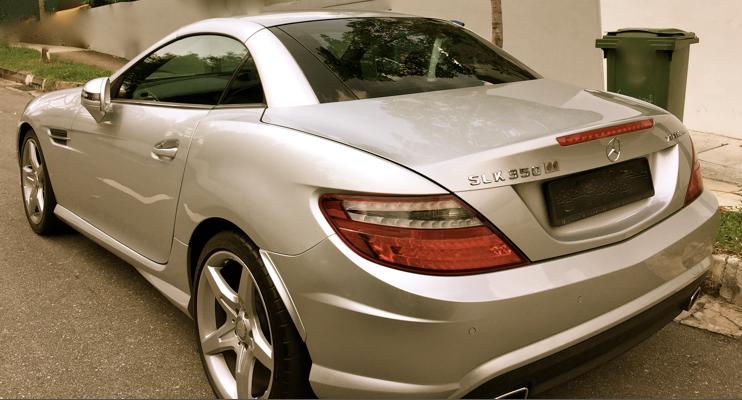 Mercedes SLK silver