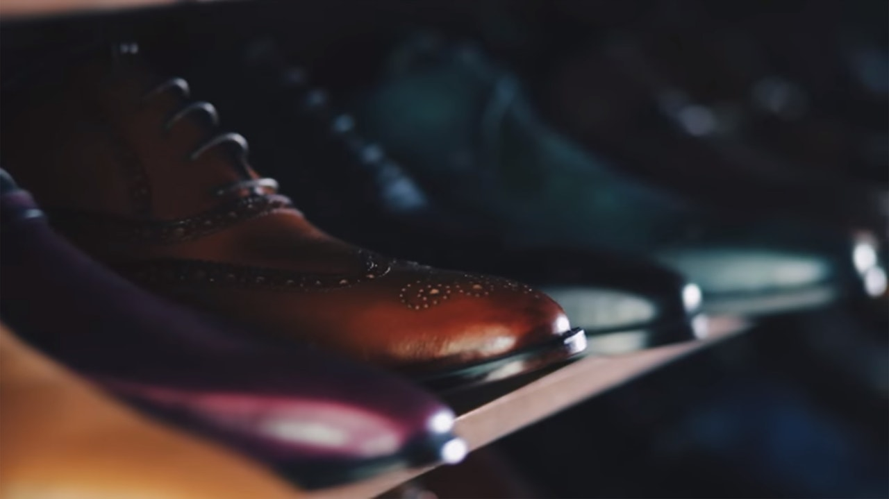 Image of shoes on a rack