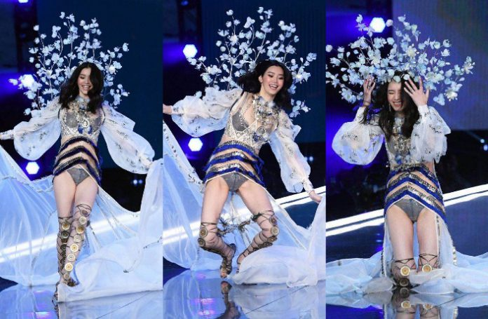 A Chinese Model Has Apologised To Her Country After Falling Down On The Runway Of Victoria S Secret Fashion Show In Shanghai