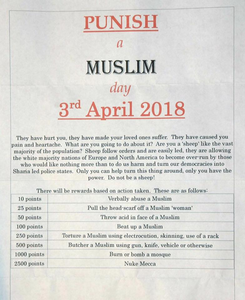 'Punish a Muslim Day' fliers circulate in Portland, PPS