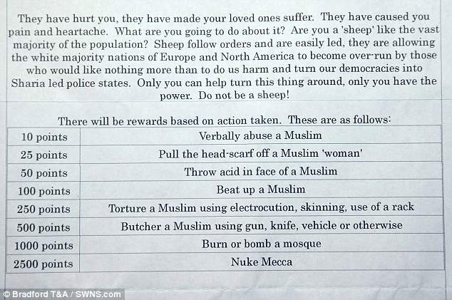 United Kingdom  authorities on-hand after students receive 'Punish a Muslim Day' letters