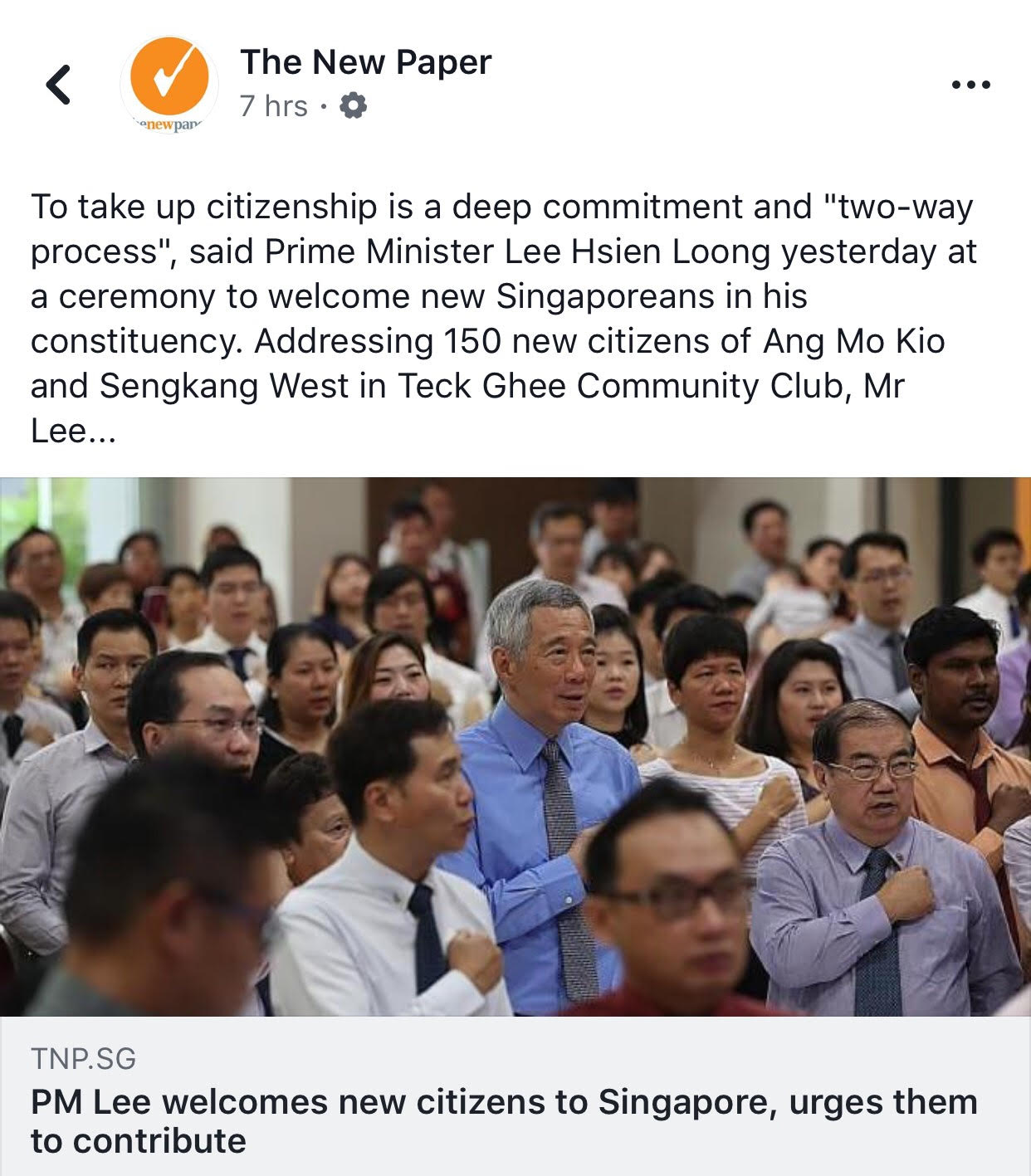 TNP crops out new citizen who uses left hand to pledge allegiance to
