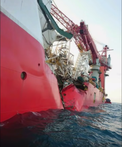 Chemical tanker collides with cable ship along Singapore